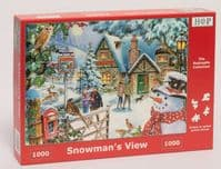 Snowman's View - 1000 Pieces |Yorkshire Jigsaw Store